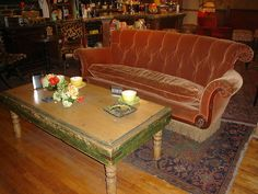 The iconic orange couch in Central Perk was found by a set designer in the basement of the Warner Bros. Studios.