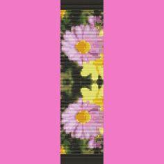 Daisy Daisy Bead Bracelet Pattern in Loom and Two Drop Peyote Stitch. $5.00, via Etsy.