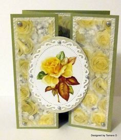 Yellow Rose Thinking of You by lovesheltercats - Cards and Paper Crafts at Splitcoaststampers