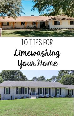 Have you wanted to Limewash your home, but have been hesitant to start? Today, I'm sharing 10 Tips for Limewashing Your Home featuring Romabio Paints Classico Limewash House Paint Exterior, Exterior Paint Colors, Exterior Design, Home Renovation, Home Remodeling, Kitchen Renovations, Painted Brick Exteriors, Exterior Makeover, Exterior Remodel