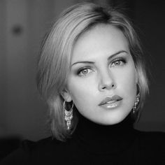 Charlize Theron 2015 Most Beautiful woman of the year Charlize Theron, Beautiful People, Beautiful Women, Black And White Portraits, Timeless Beauty, Woman Face, Belle Photo, Hollywood Actresses, Beautiful Actresses