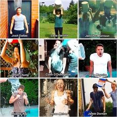 ALS ice bucket challenges! Josh Dallas - Lana Parrilla - Jennifer Morrison - Jamie Chung - Colin O'donoghue - Sean Maguire - Robbie Kay - Rose McIver - Jamie Dornan