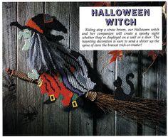 Plastic Canvas Halloween Witch ePattern