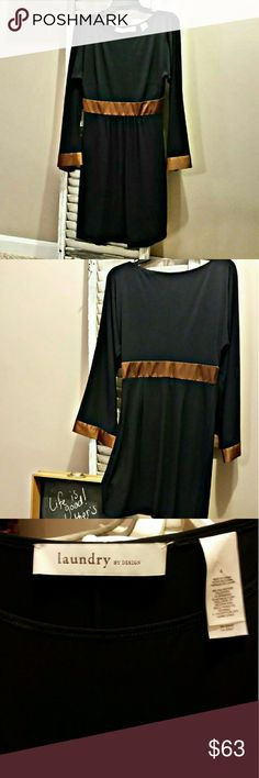 Laundry by Design...navy blue and bronze Laundry by Design...size 4 navy blue and bronze Laundry by Design Dresses Long Sleeve