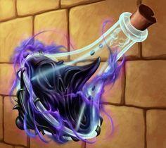 Potion de magie noire qui donne force et vigueur à celui qui la boîte on contrepartie de son âme (+20% à toute les statistiques +3 à tout les paramètres) (pendant10 tours),