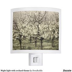 Night light with orchard theme