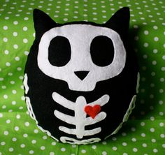 Skeleton Owl - Felt Plush Toy