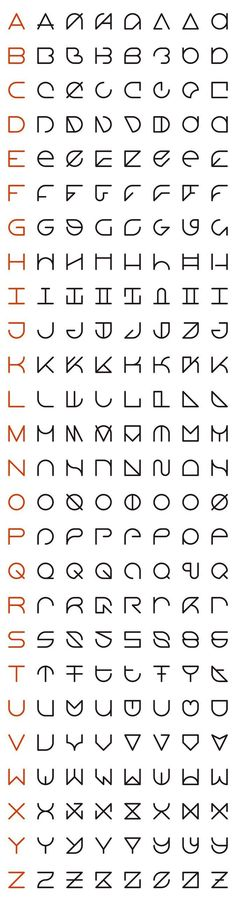 An Interview with Rolando G. Alcantara, Typographic Innovator like the second column font alphabet Alphabet Code, Alphabet Symbols, Typography Alphabet, Free Typography Fonts, Typography Served, Alphabet Letters, Letter Art, Typography Poster, Letras Cool