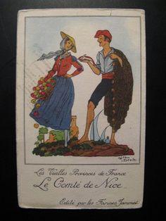 Vintage Old Advertising Postcard Jean Droit, Le Comté de Nice...