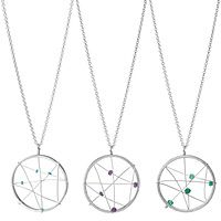 Erin McCloskey's elegant reinterpretation of a dreamcatcher, recycled silver and semi-precious stones are woven together to ward off unwanted spirits. Gifts For Teens, Gifts For Friends, Gifts For Her, Dream Catcher Necklace, Bijoux Diy, Bracelets For Men, Silver Necklaces, Jewelry Making, Diy Jewellery