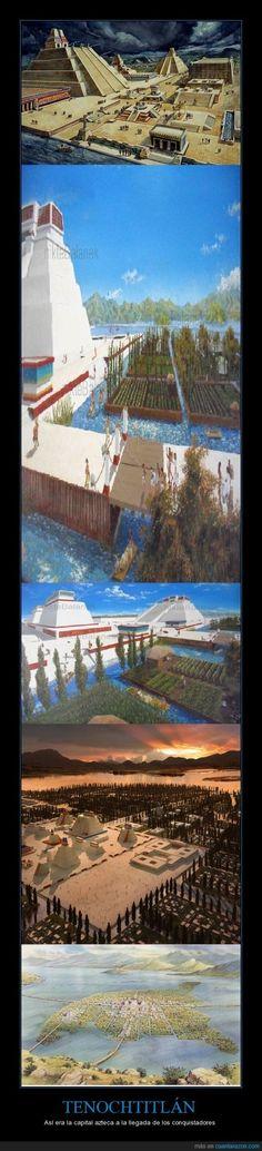 TENOCHTITLÁN - Así era la capital azteca a la llegada de los conquistadores