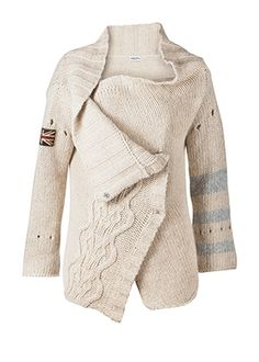Hunkydory Skull cable knit love the details on the sleeves