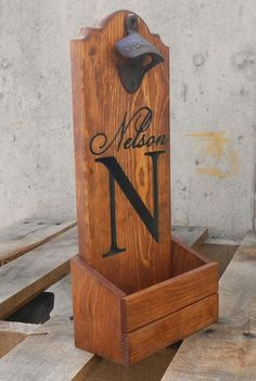 Bottle cap catcher personalized for your man cave. by MVwoodworks