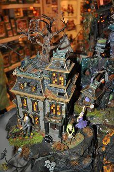 """Halloween Village Display / Dept. 56 Halloween Display / Department 56 Snow Village Halloween """"Mordecai Manor"""""""
