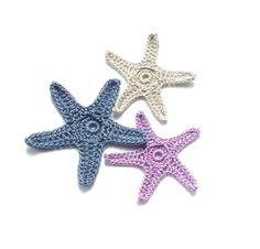 Colorful crochet starfish by KnellyBean. @Lindsay Blanchard... can you make these?! :)