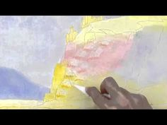 How to Use a Palette Knife to Scrape Out Paint - Watercolor Painting Tutorial creative club