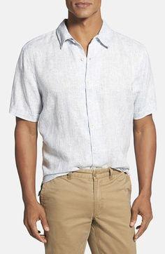 Men's True Grit Traditional Fit Short Sleeve Linen Sport Shirt