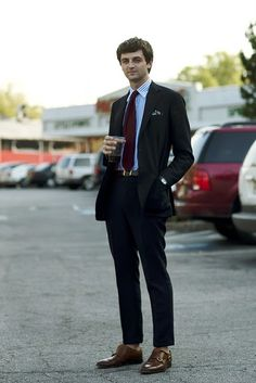 The Sartorialist. On the Street…Matt, Atlanta « The Sartorialist. Best Dressed Man, Sharp Dressed Man, Well Dressed, Double Monk Strap Shoes, Slim Suit, Dapper Dan, Smart Outfit, Stylish Boys, Sartorialist