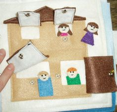House Quiet Book Templates - Cutesy Crafts
