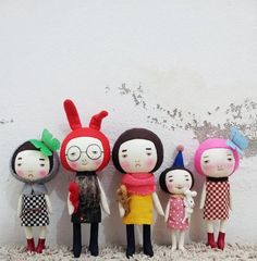EEching handmade dolls