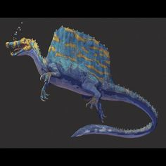 ➡️SWIPE for process ➡️ It's and y'all know I'm back on my bs Jurassic Park, Jurassic World, Reptiles, Alien Worlds, Spinosaurus, Prehistoric Animals, Creature Design, Predator, Concept Art