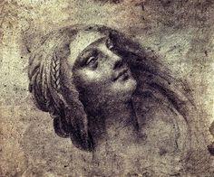 Head of the Virgin Study, Leonardo da Vinci