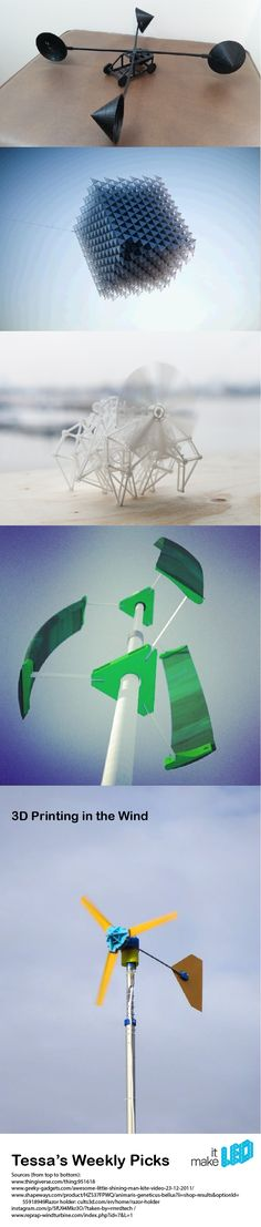 5 exmplaes of how the wind plays with 3D printed designs | Make it LEO - Tessa's Weekly Picks