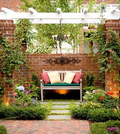 Create a Destination--a focal point that also serves as a place to stop and admire your garden.