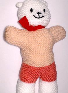 Charity bear made by Blue Light Babies, UK, for yarndale.co.uk Crochet Bear, Charity, Ronald Mcdonald, Bears, Light Blue, Babies, Creative, Projects, Character