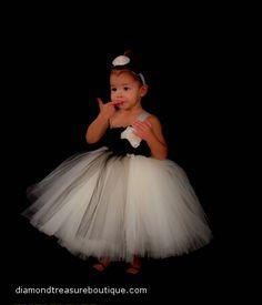 Black Tie AffairTutu dress/ flower girl dress available now at www.diamondtreasureboutique.com My Beautiful Daughter, Flower Dresses, Black Tie, Modeling, Girls Dresses, Wedding Dresses, Collection, Design, Fashion