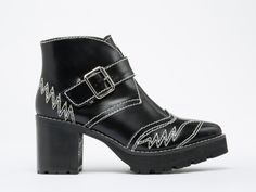 Jeffrey Campbell Twitty in Black Shiny at Solestruck.com