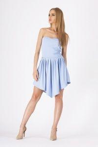 Asymetryczna sukienka z gorsetową górą