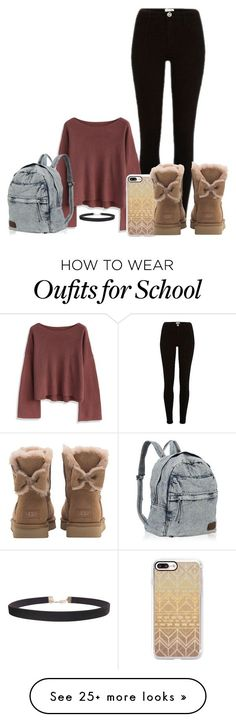 School Ideas by mikkielaine on Polyvore featuring Chicwish, Casetify, UGG and Humble Chic