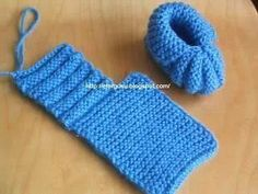 Knitted Baby Booties by Jonna Elvin The pattern comes from my mother ., booties comes elvin jonna knitted mother pattern Baby Booties Knitting Pattern, Baby Shoes Pattern, Booties Crochet, Crochet Baby Shoes, Easy Knitting Patterns, Crochet Baby Booties, Crochet Slippers, Knitting For Kids, Crochet For Kids