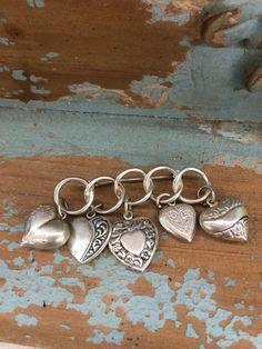 WWII Puffy Silver Heart Brooch by DaphsSmallWorld on Etsy