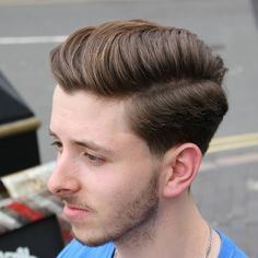 Simple hairstyle cutting boy photo