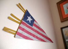 Old Glory Flag Pennant Craft: Fourth of July Crafts for Kids - Kaboose.com