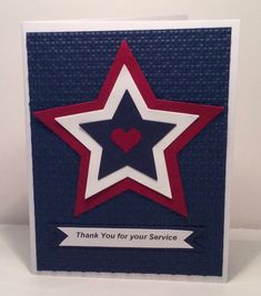 Patriotic by snowmanqueen - Cards and Paper Crafts at Splitcoaststampers Buy Gift Cards, Diy Cards, Diversity Poster, Independence Day Card, American Card, Military Cards, Honor Flight, Star Cards, Card Sentiments