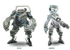 Mecha concept Picture  (2d, sci-fi, mecha, motor)