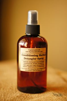 Conditioning+Herbal+Detangler+Spray+by+FrugallySustainable+on+Etsy,+$10.00