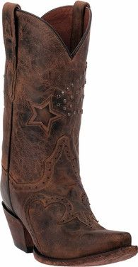 DAN POST WOMEN'S DALLAS STAR COWGIRL BOOTS - SNIP TOE DP 3633 | Cowby Boots and Western Clothing | Painted Cowgirl Western Store