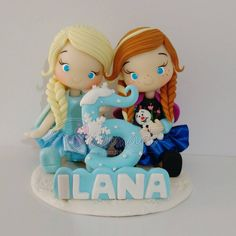 Topo de bolo Frozen ❄⛄ #dalumart #artesanato #frozen #festafrozen #bolofrozen #decoracaofestainfantil #decoracaofrozen #anna #elsa #olaf #biscuit