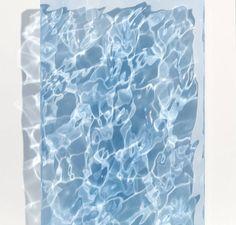 A Little Blue Ocean Carved Acrylic Sculpture by Sophia Collier Water Sculpture, Sculpture Art, Instalation Art, Contemporary Abstract Art, Art Design, Textures Patterns, Wallpaper, Glass Art, Wine Glass