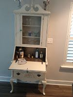 Sweet B's and Sunshine: Secretary desk repurposed as mini bar:)