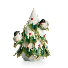 Franz Porcelain Holiday Beginnings Chickadee Tree Figurine - Google Search
