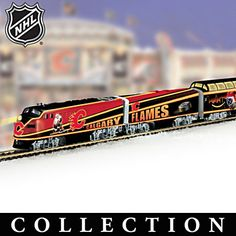 Celebrate one of the most exciting teams in the National Hockey League with this outstanding collectible Calgary Flames® NHL® team hockey train collection