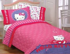 Hello Kitty Sheets and Bedding. Hello Kitty sheets for the bed are a perfect addition to any girl or young woman's bedroom. Whether you are a Hello Kitty
