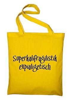 Mary Poppins Fun Jutebeutel, Beutel, Stoffbeutel, Baumwolltasche, gelb - http://herrentaschenkaufen.de/styletex23/gelb-mary-poppins-fun-jutebeutel-beutel
