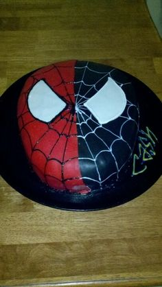 Spiderman showing his dark side - perfect for your Spiderman fan. 9th Birthday Parties, 5th Birthday, Birthday Ideas, Chucky Costume For Kids, Toddler Boy Birthday, Iron Man Birthday, Thomas Cakes, Kid Desserts, Superhero Cake