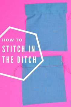 Stitching in the ditch is such a great sewing skill! How to Stitch in the Ditch // heatherhandmade.com